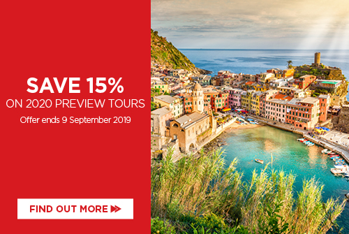 Save 15% on 2020 Globus Europe Preview tours